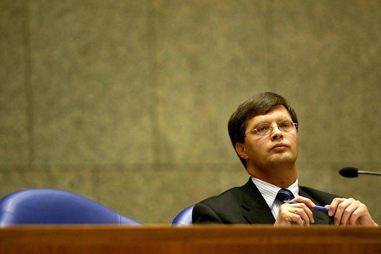 Balkenende heeft zojuist aan de Tweede Kamer meegedeeld dat het kabinet gevallen is. (ANP) Beeld