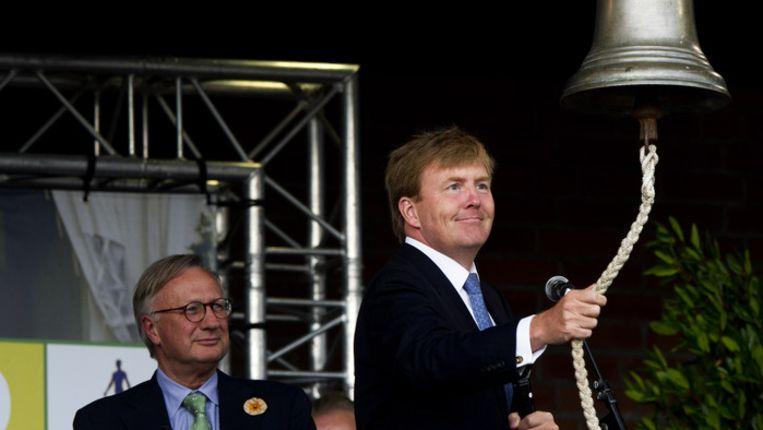 Prins (en later koning) Willem-Alexander opent het nieuwe hippische gebouw van het CHIO Rotterdam en de Rotterdamsche Manège, eind augustus dit jaar. © ANP Beeld