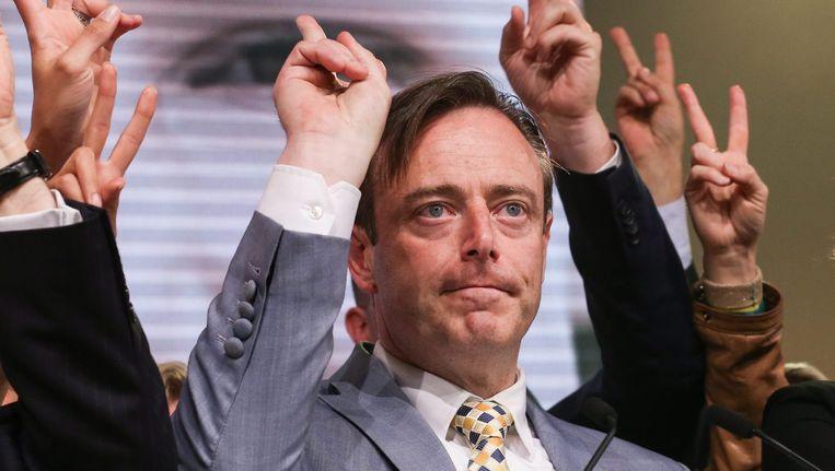 voorman Bart De Wever van de Nieuw-Vlaamse Alliantie (N-VA) Beeld epa