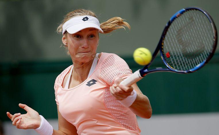 Makarova opende sterk, maar bleek al gauw niet opgewassen tegen het nummer 54van de WTA-ranglijst.