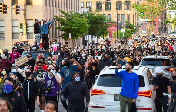 Protest in Minneapolis.