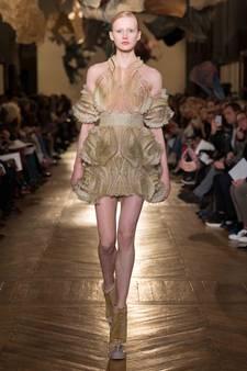 Haute Couture ontmoet wetenschap bij ontwerp voor 3D-geprinte jurk