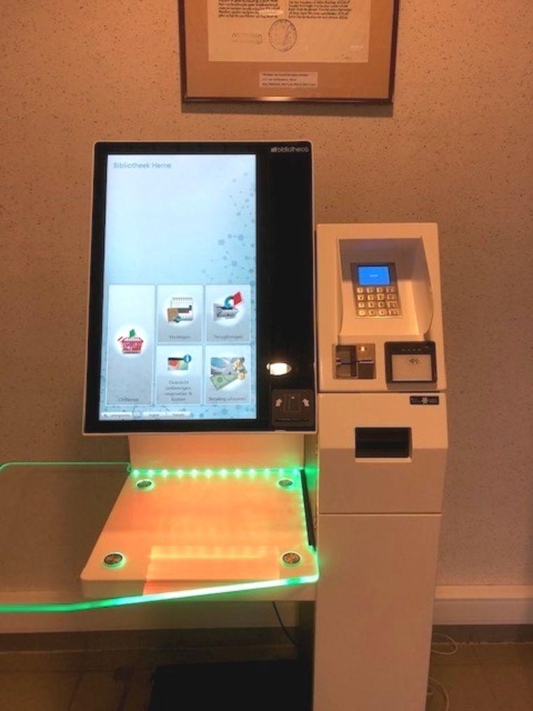 Het nieuwe digitale uitleensysteem van de bibliotheek van Herne.