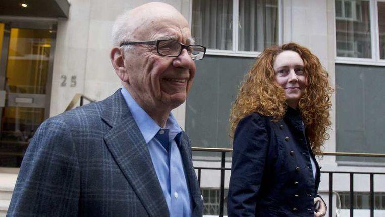 Rupert Murdoch naast Rebekah Brooks.