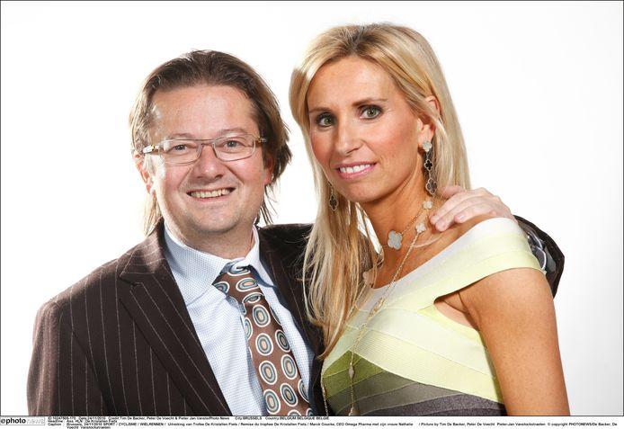 Marc Coucke met echtgenote Nathalie.
