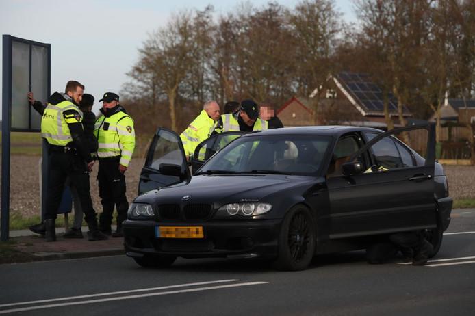 Op toegangsweg A6 richting Urk werden vanmiddag twee mannen aangehouden.