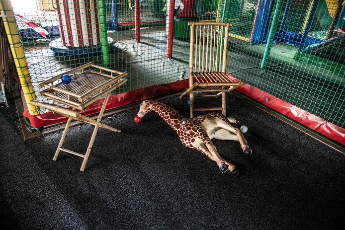 Speelparadijs Monkey Town toonde na de brand een trieste aanblik.