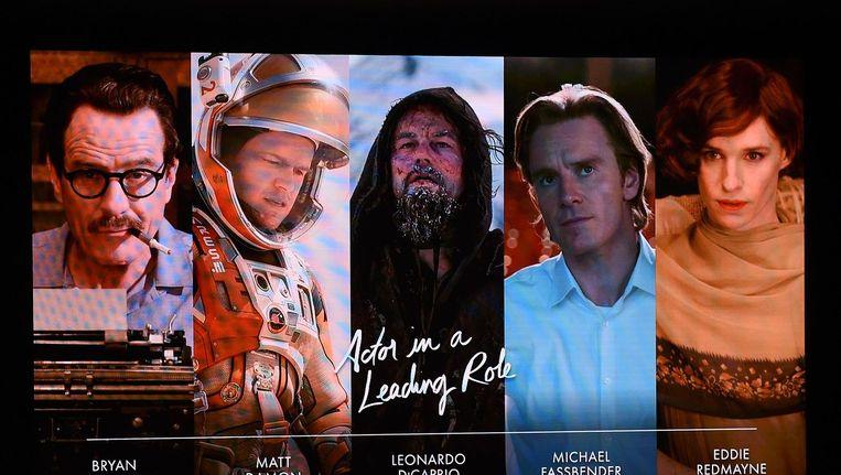 Nominaties voor beste acteur. Beeld AFP
