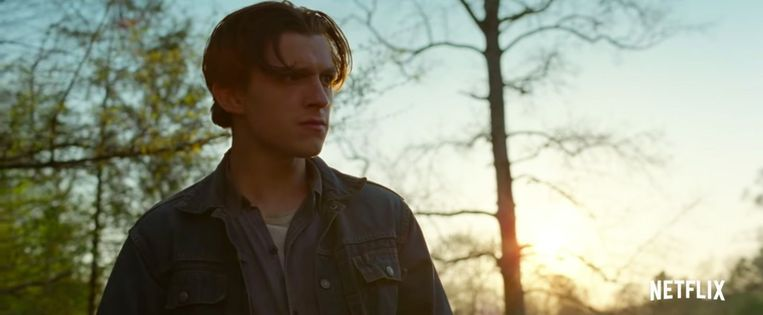 Tom Holland in 'The Devil All The Time' Beeld Netflix