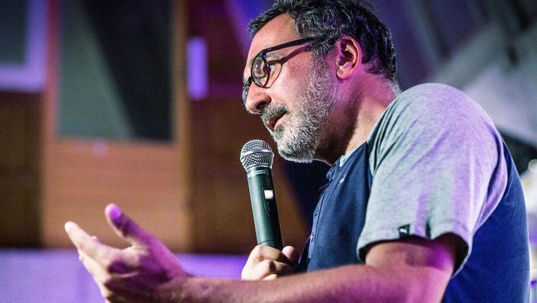 Diederik Stapel spreekt over zijn ervaringen bij de fucked up-meeting in Utrecht Beeld null