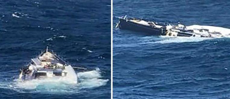 Het luxezeiljacht van een Italiaanse miljardair is gezonken in de Middellandse Zee nadat het van een vrachtschip is gevallen.