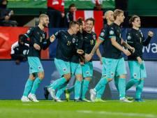 Oostenrijk via zege op Macedonië achter Polen aan naar EK