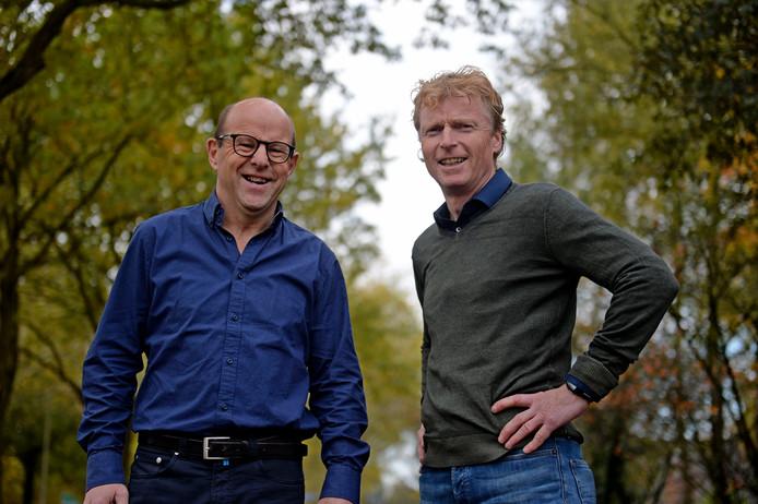 Thom Hilderink en John Mentink zijn voorzitter en bestuurslid van de nieuwe ondernemersvereniging Zenderen, die meteen al heel populair is.