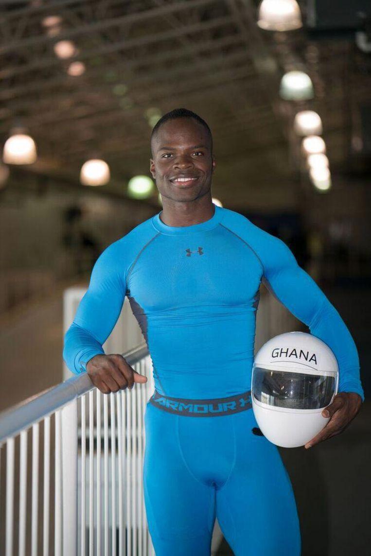 Akwasi Frimpong. Als illegale vluchteling uit Ghana kwam Akwasi Frimpong in 1995 in de Bijlmer terecht. Zijn sporttalent bleef er niet onopgemerkt Beeld Akwasi Frimpong