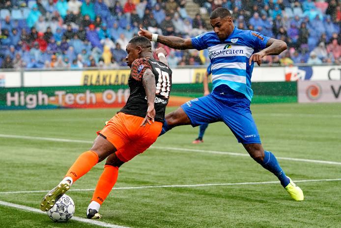 """Darryl Lachman kreeg in juli van trainer John Stegeman en technisch manager Mike Willems te horen dat hij mocht vertrekken bij PEC Zwolle. Tegen PSV lijkt hij zich te hebben teruggeknokt in het elftal. ,,Ik denk wel dat ik tevreden kan zijn."""""""