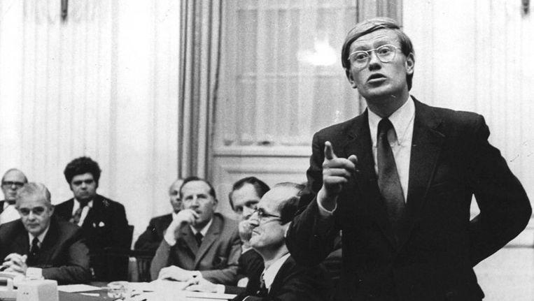 Het campagnefilmpje van de VVD was in 1972 ook al hard van toon. Op de foto Hans Wiegel in 1971. Beeld ANP