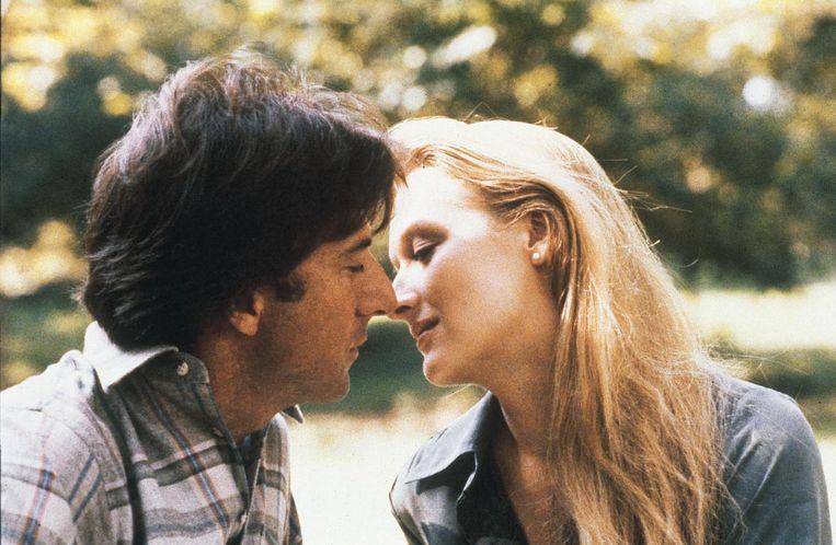 Dustin Hoffman en Meryl Streep: verliefd op het scherm, maar ambras in het echt.