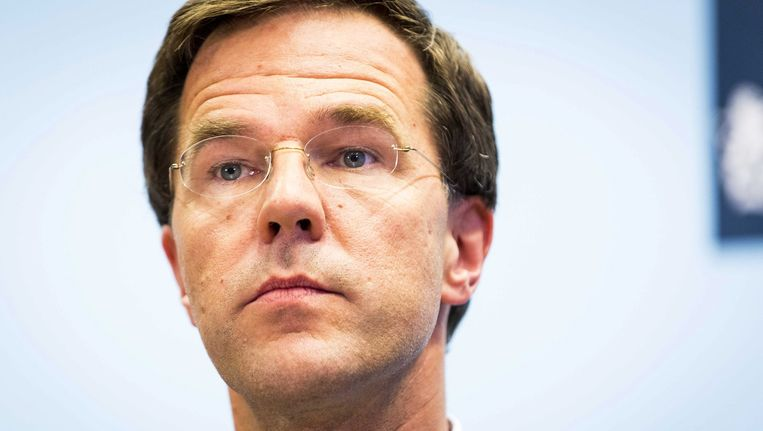Minister-president Mark Rutte Beeld epa