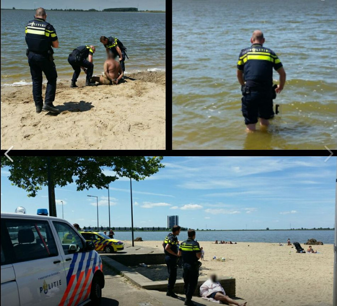 Foto's van de actie in Bergen op Zoom.