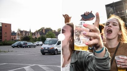 Bevreemdend: een lege Grote Kaai aan het begin van de Lokerse Feestweek