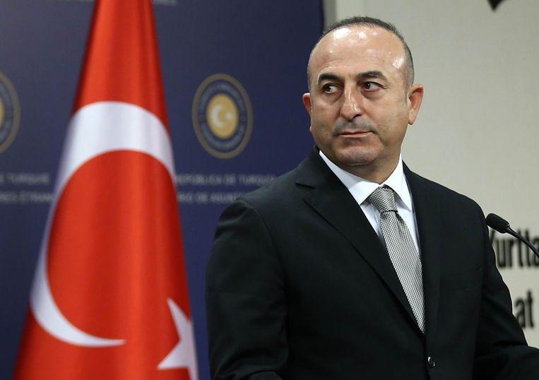 De Turkse minister van Buitenlandse Zaken Mevlüt Çavusoglu Beeld AFP