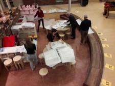 Stembureau Hilvarenbeek werkt zich stug door een stapel stembiljetten heen