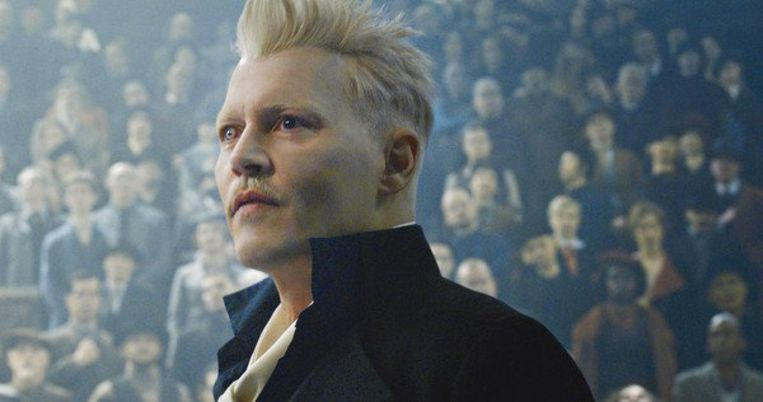 Johnny Depp in de filmreeks 'Fantastic Beasts'.