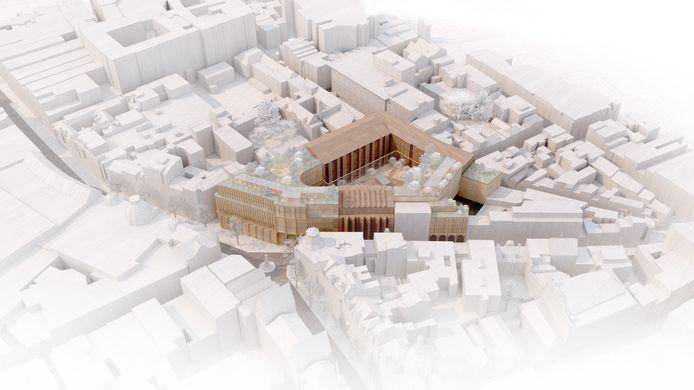 De nieuwe campus komt in het voormalige Proximus-gebouw aan de Meir, Jezusstraat, Cellebroedersstraat en Lange Nieuwstraat, in het hartje van Antwerpen
