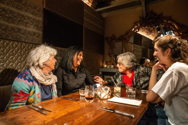 Van links naar rechts: Nel Willekens, Saida Derrazi, Maria Boone en Devika Partiman.