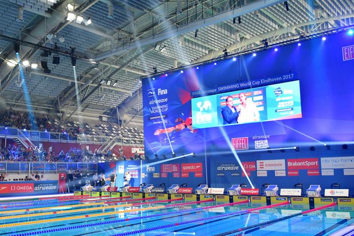 Het Pieter van den Hoogenband zwemstadion waar dit weekeinde de World Cup zwemmen wordt gehouden.