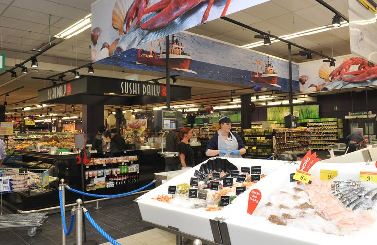 LIER - Een archiefbeeld uit de supermarkt Carrefour in Lier