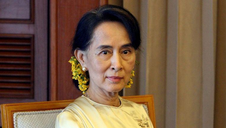nobelprijswinnares en mensenrechtenactiviste Aung Aan Suu Kyi. Beeld epa