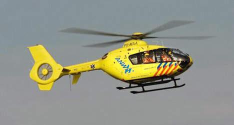 Na de melding werd een traumahelikopter ingezet.