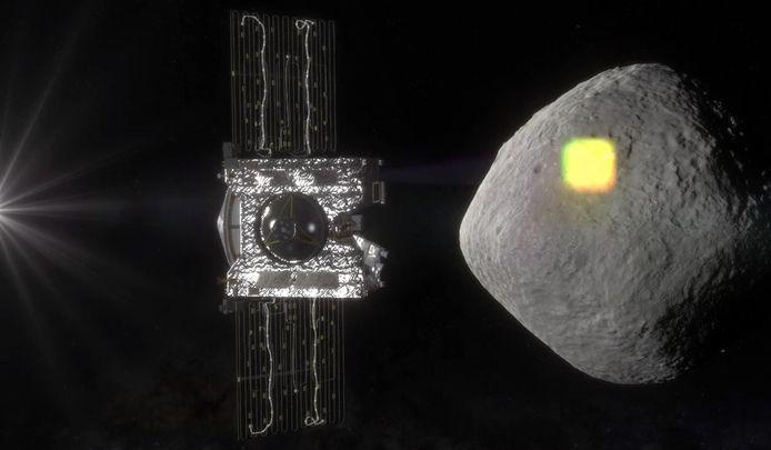 OSIRIS-REx bij asteroïde Bennu.