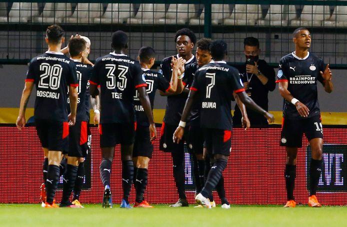 Feest bij PSV na de 1-4.