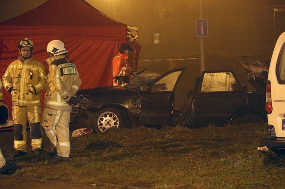 Het ongeval gebeurd op 18 december 2016 op de Booischotsesteenweg in Hulshout