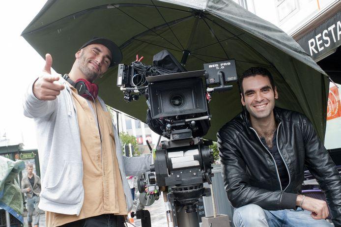 Bilall en Adil op de set in Brussel.