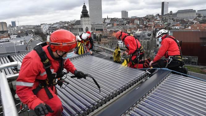 Brusselse brandweer heeft handen vol aan schade door rukwinden