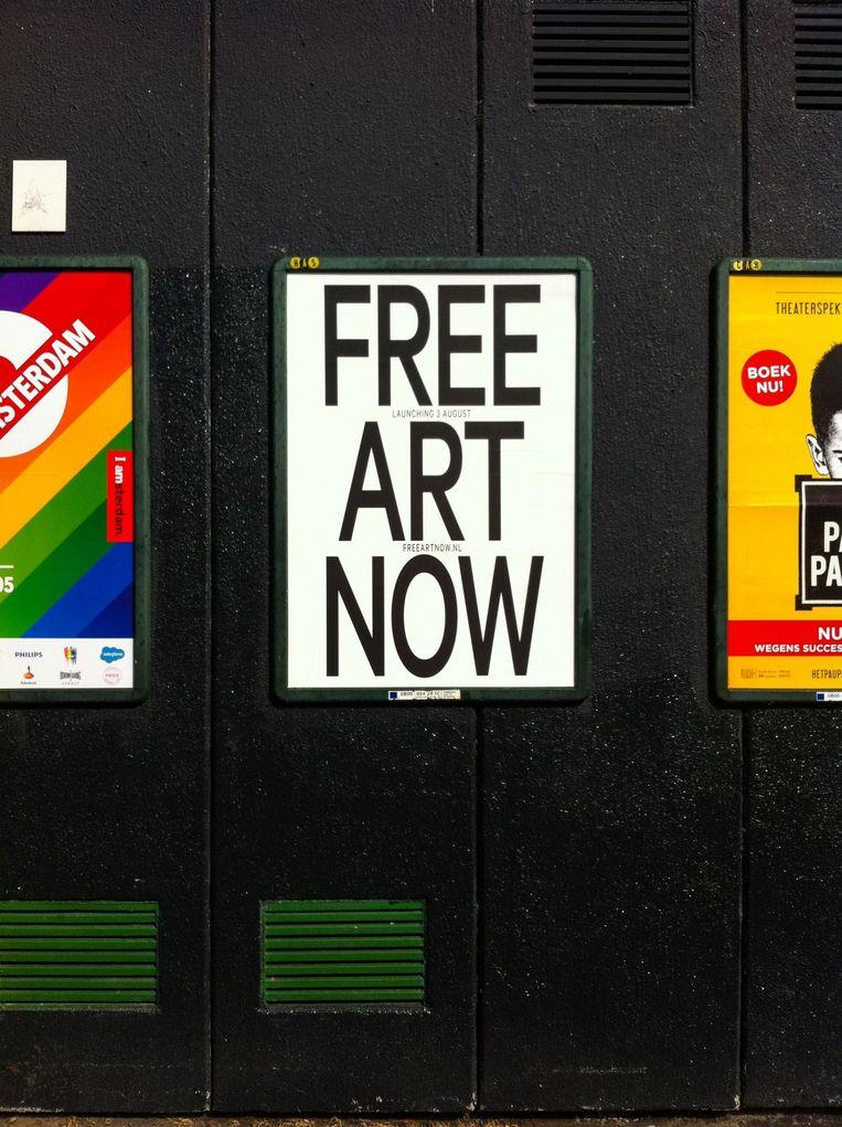 Straks zijn ze 24 uur per dag, gratis op A1 en A0 formaat te zien Beeld We Are Public