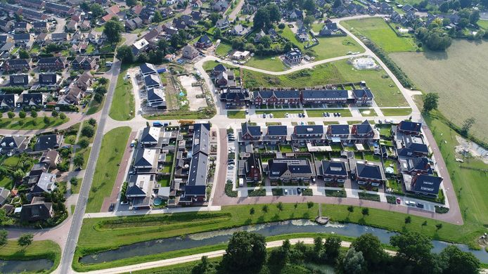 De huizen uit de eerste bouwfase van de Enterse nieuwbouwwijk De Berghorst.