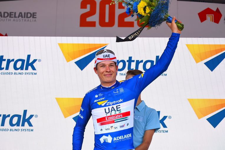 Philipsen won in het begin van het seizoen de puntentrui in de Tour Down Under.