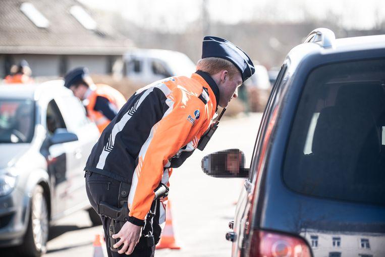 Onder meer in de Baaigemstraat werden chauffeurs gecontroleerd.
