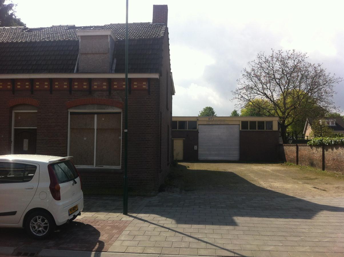 De te slopen panden aan de Kloosterstraat in Loon op Zand.