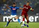 Virgil van Dijk ging flink in de fout bij de 2-0 van Napoli.