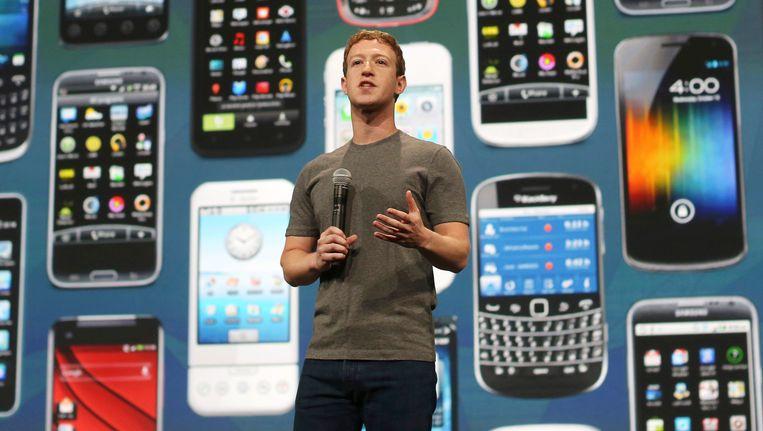Facebook-oprichter Mark Zuckerberg. Beeld reuters