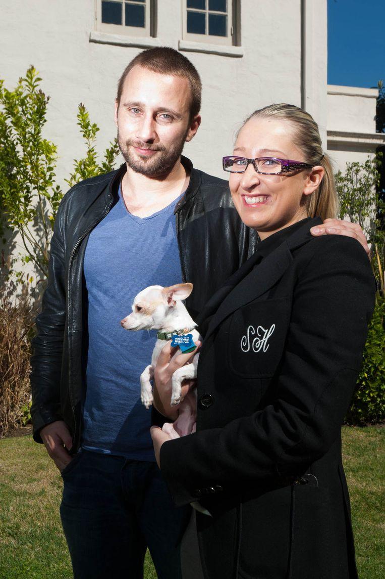 Matthias en onze Hollywoodreporter. Foto: Joost De Bock.