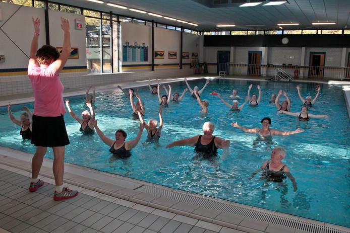 Aquagym in het huidige zwembad De Wissen.