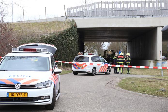 Het ecoduct in Schaijk, waar Henk Baum werd doodgeschoten.