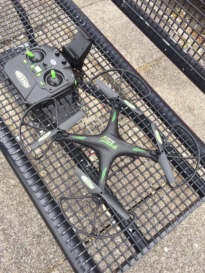 De in beslag genomen drone.