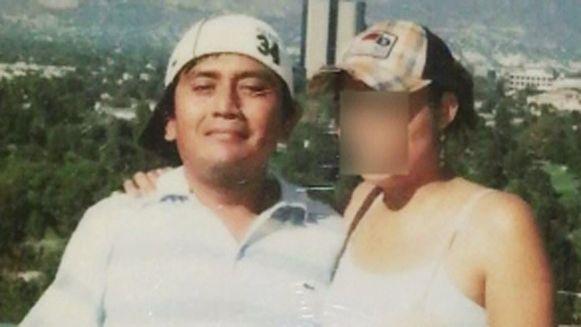 Een foto van Garcia en 'Laura'.